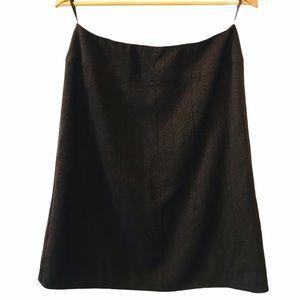 CHANEL VINTAGE Tweed Knee Length Pencil Skirt 44